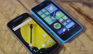 Moto E vs Lumia 635