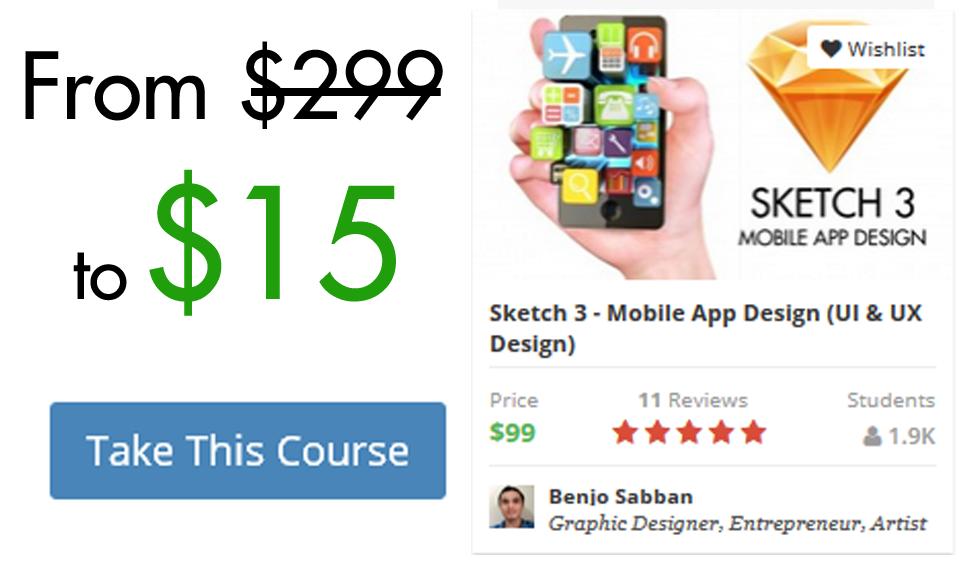Sketch 3 - Mobile App Design (UI & UX Design) 85% OFF Coupon