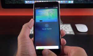 iOS 9 doubletap to apple pay