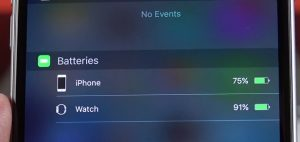 iOS 9 new notification widgets batteries