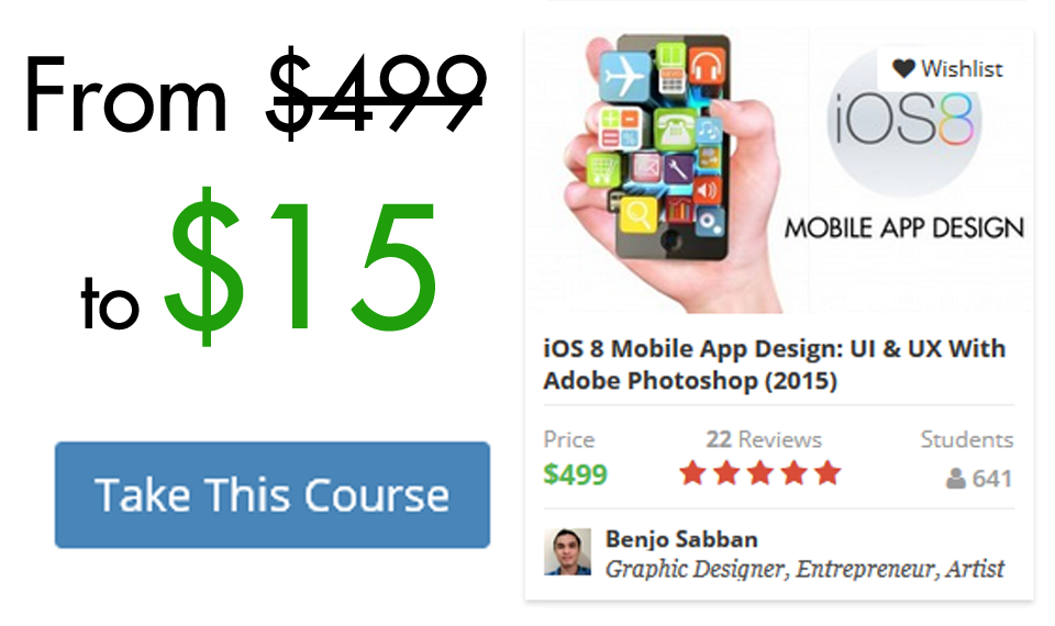 95% OFF: iOS 8 Mobile App Design: UI & UX With Adobe Photoshop