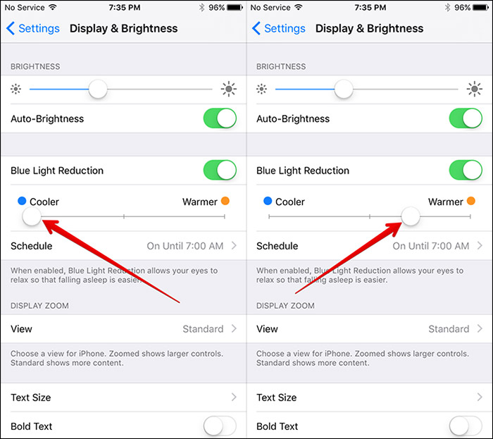 how to set up night shift feature in ios 9.3 preview