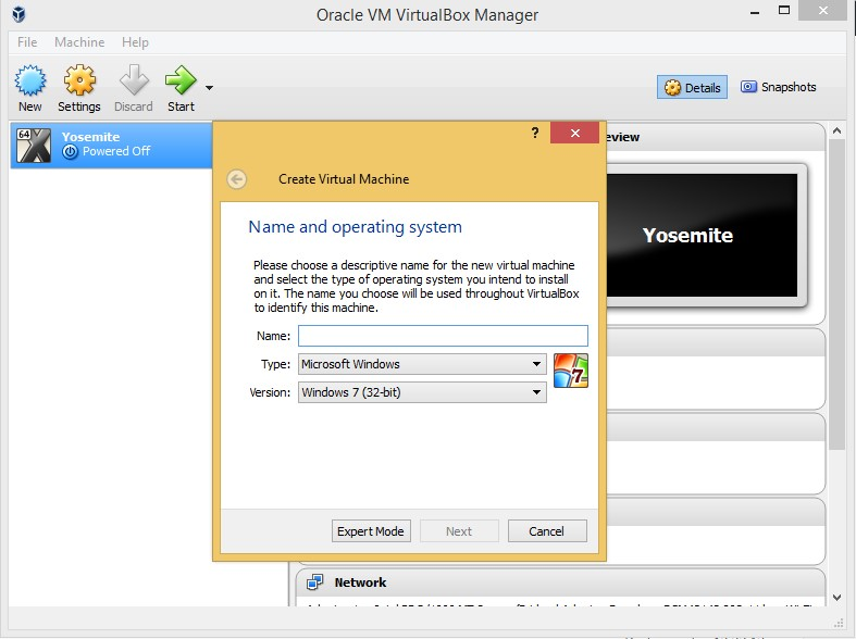 VirualBox only showing 32 bit guest operating system