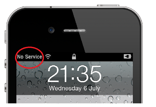 How to get service on iphone