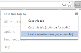 how to chromecast form laptop