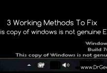 fix windows is not geniune error