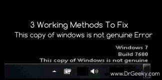 fix windows is not geniune error
