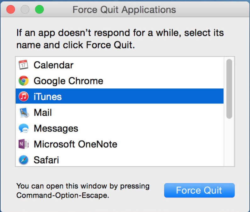 How to force quit programs in mac os