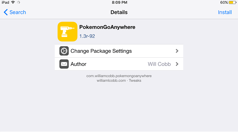 PokemonGoAnywhere iOS 9.3.3 hack pokemon Go in iPhone