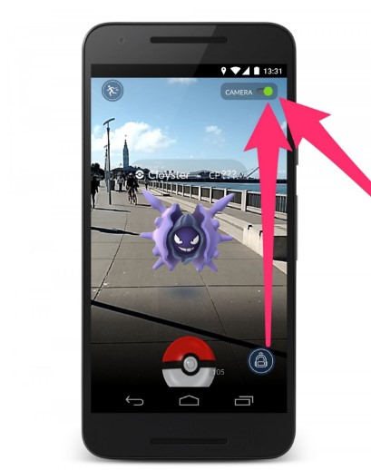 how to use camera in pokemon go