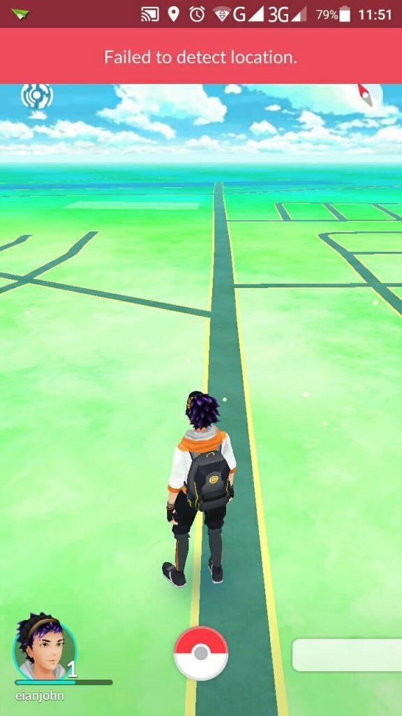 failed to detect location pokemon go