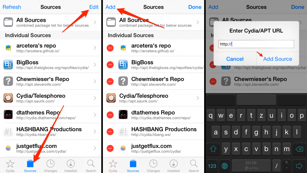 How to add source to cydia