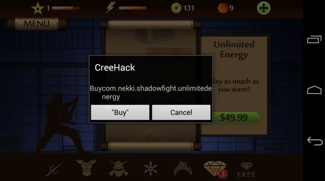 how to use creehack download apk
