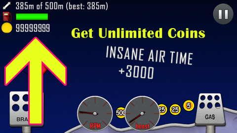 hill climb racing hack for iPhone without Jailbreak without Computer