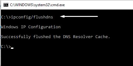 fix err_internet_disconnected error windows 10