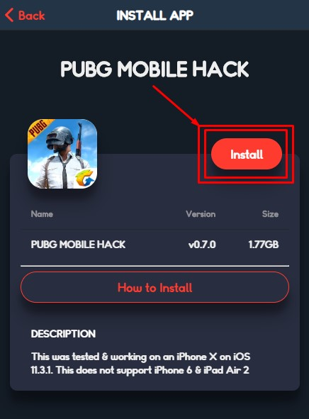 pubg hack no gun recoil for iPhone without jailbreak