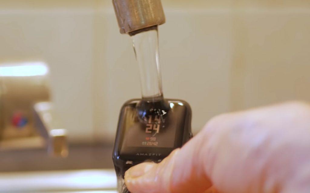 amazfit bip water proof