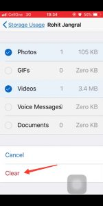 Delete old Whatsapp videos & photos from iPhone