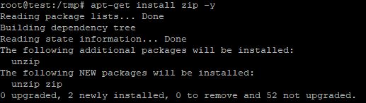 how to zip compress and unzip extract files in linux vps